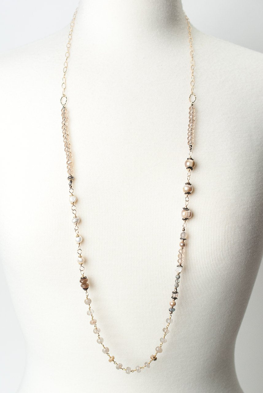 "Sevenly 36-38"" Gemstone Collage Necklace"