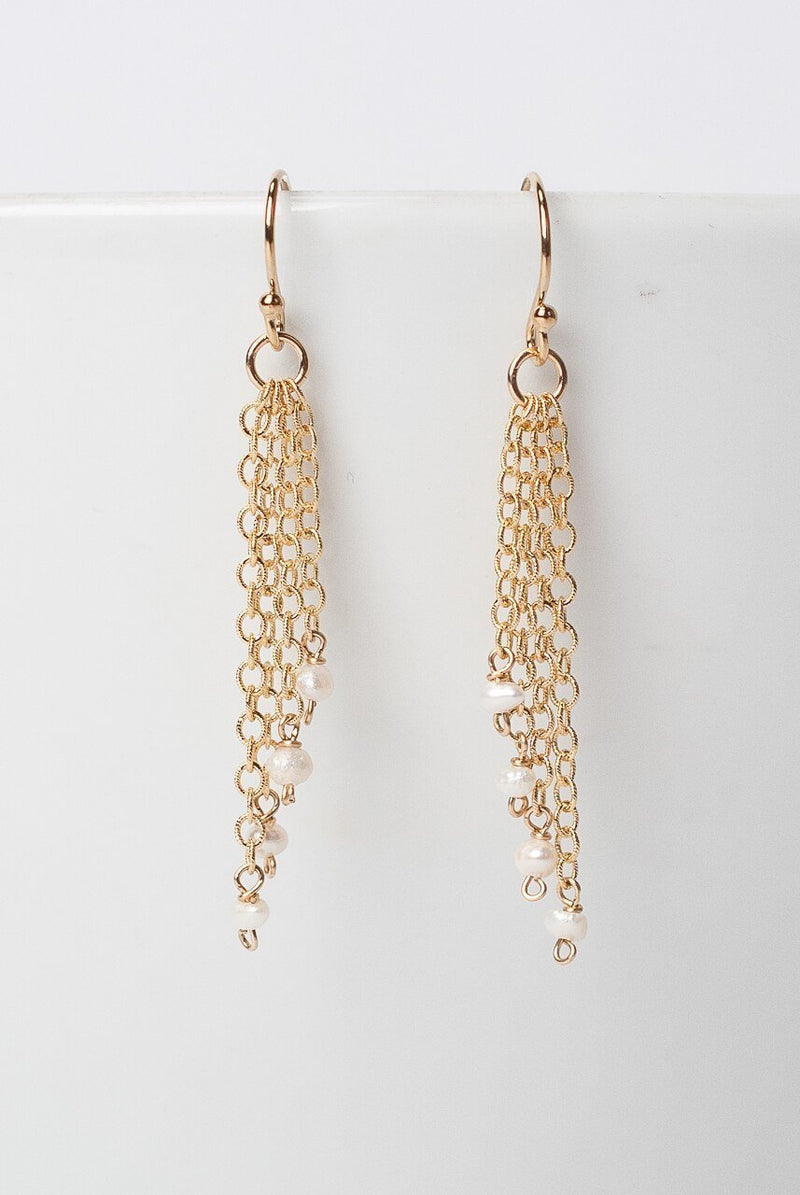 Simplicity Gold Tassel Earrings