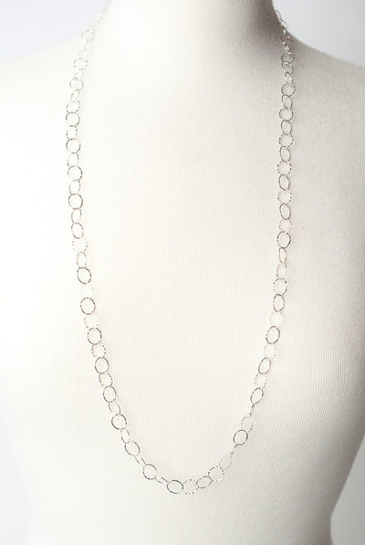 "Solara 35"" Sterling Silver Chain Layer Necklace"