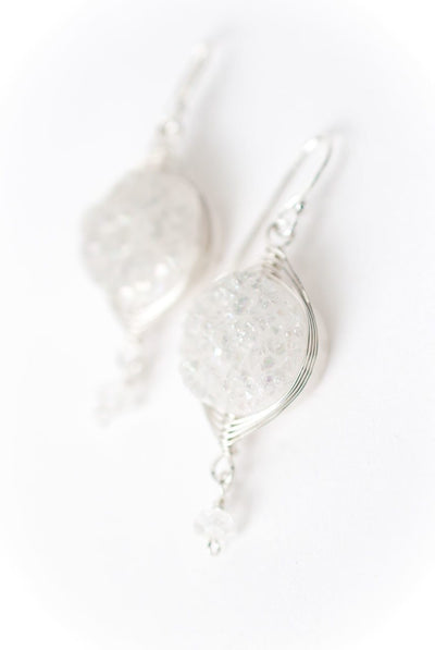Solara Herringbone Druzi Earrings