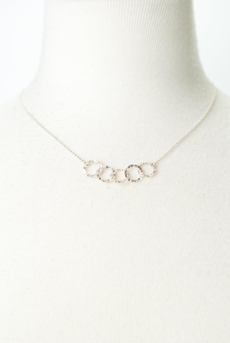 "Totality 16-18"" Sterling Silver Hoop Necklace"