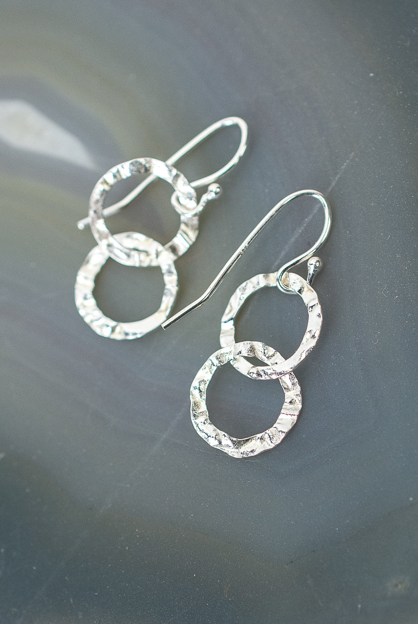 Totality Sterling Silver Double Hoop Earrings