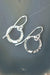 Totality Sterling Silver Single Hoop Earrings