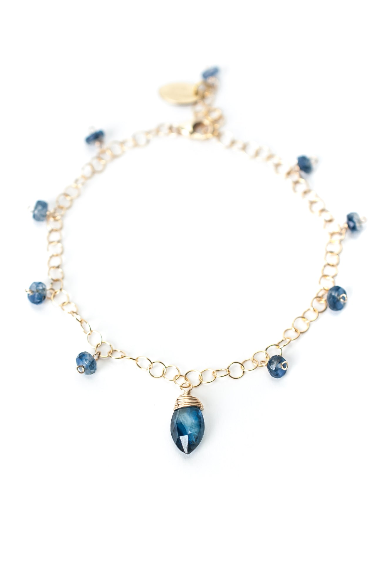 "Truth 7.5-8.5"" Simple Gold Kyanite Bracelet"