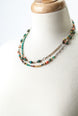 "Tumbleweed 37.75-39.75"" Turqoise, Coral, Shell Collage Necklace 1"