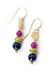 Tapestry Jade, Lapis Dangle Earrings