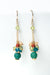 *La Tierra Crackled Agate Cluster Dangle Earrings