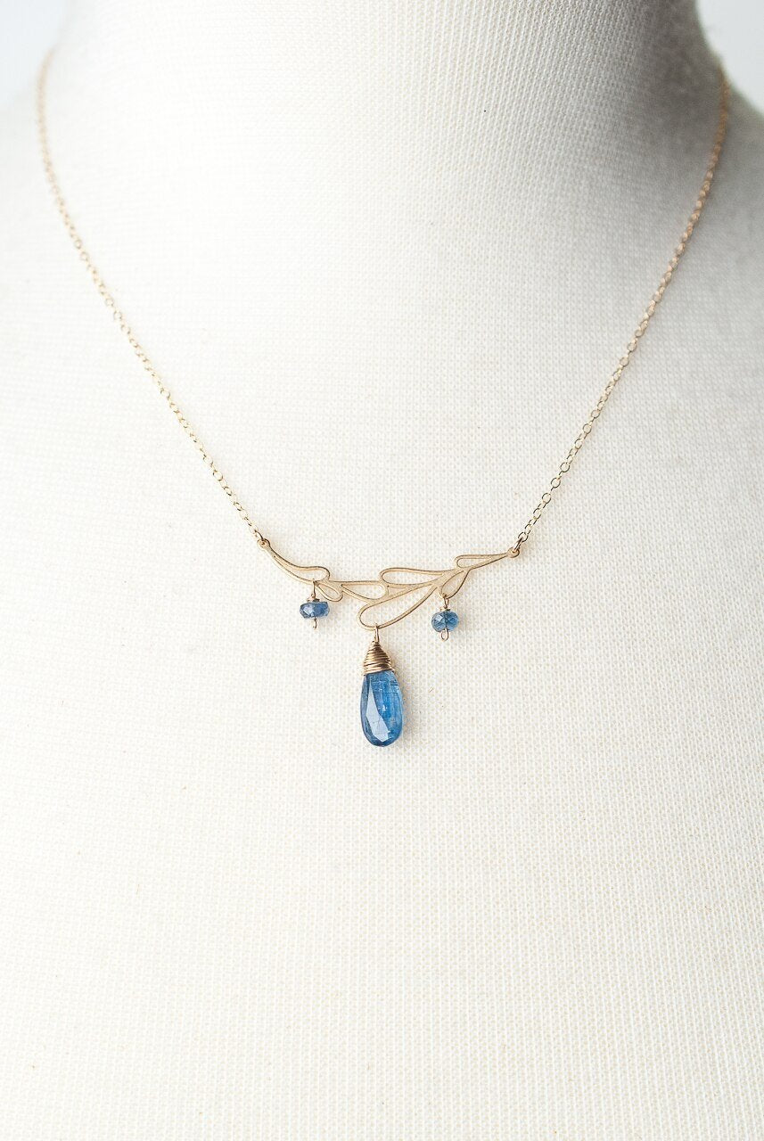 "Truth 16-18"" Kyanite Leaf Focal Necklace"