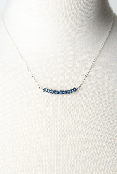 "Truth 16-18"" Kyanite Bar Focal Necklace"