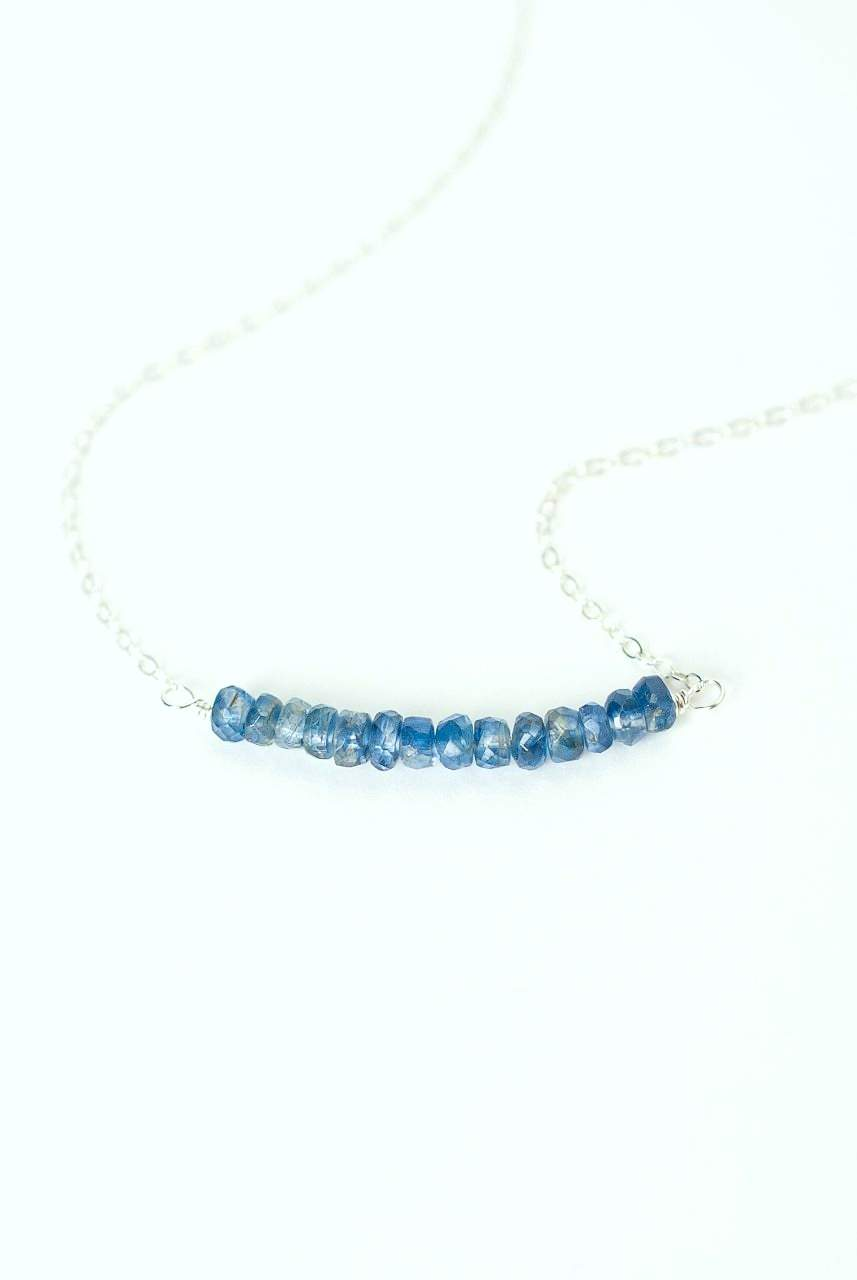"Truth 16-18"" Silver Kyanite Bar Focal Necklace"