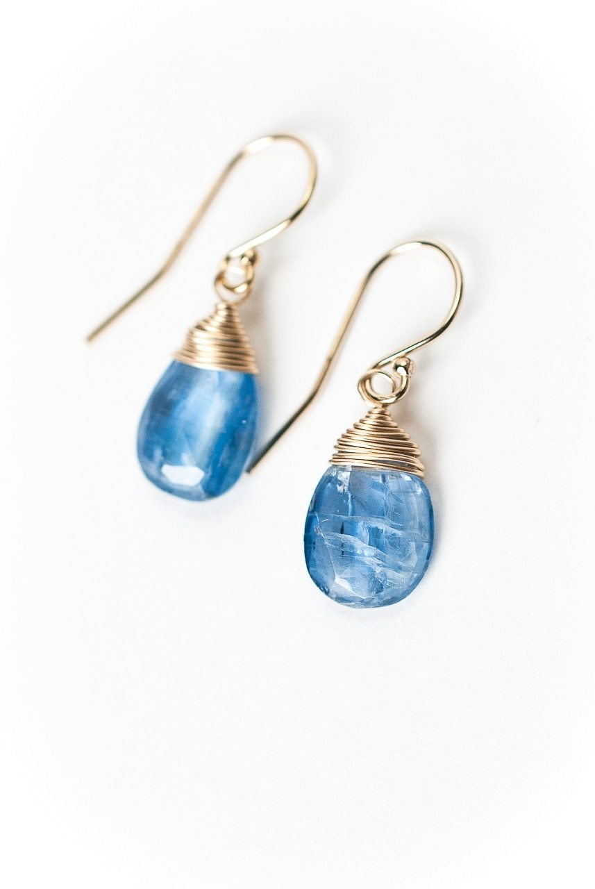 Truth Simple Gold Kyanite Briolette Earrings