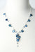 "*Truth 20-22"" Silver Kyanite Cascading Cluster Pendant Necklace"