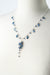 "Truth 20-22"" Silver Kyanite Point Cascading Cluster Necklace"