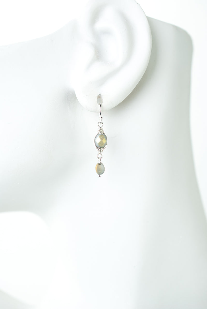 Vision Czech Glass Herringbone Earrings
