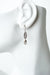 Windsor Castle Crystal Teardrop Dangle Earrings
