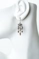 Windsor Castle Antique Silver Chandelier Earrings 1
