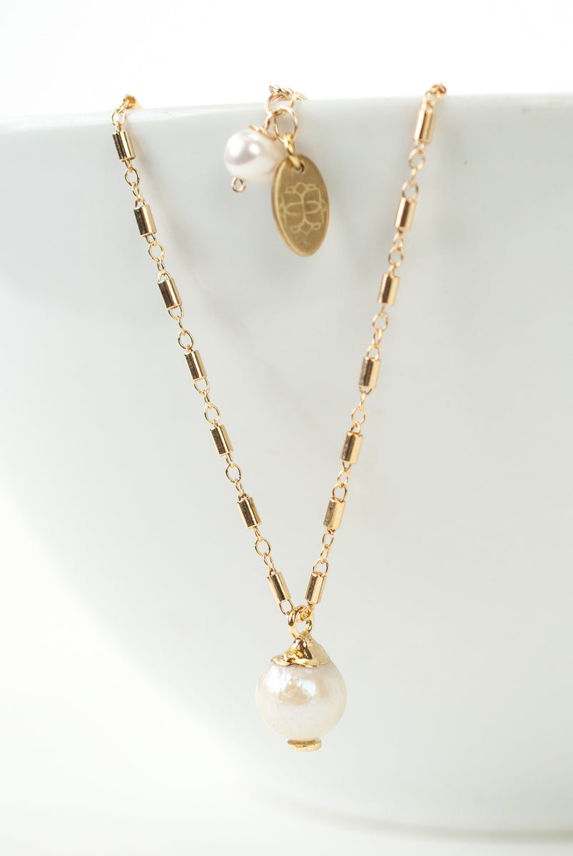 "*Wisdom 18-20"" Fresh Water Pearl Focal Necklace"