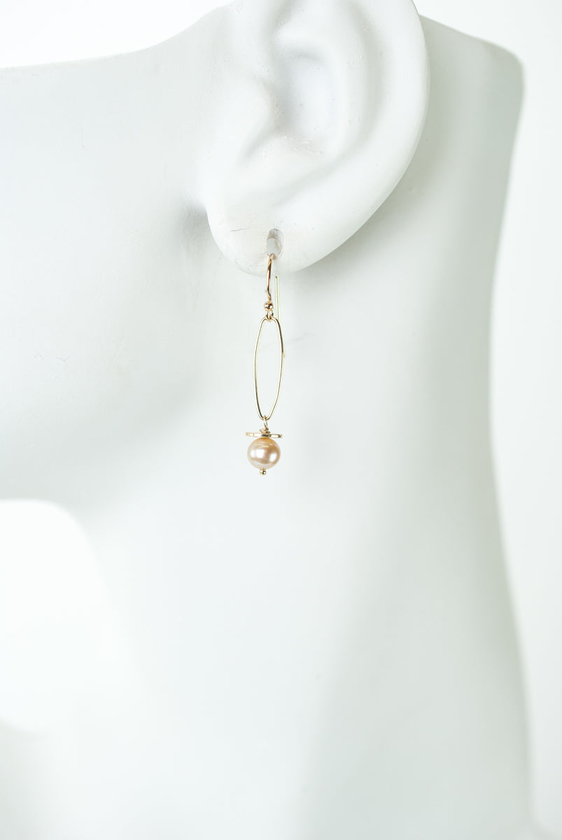 *Wisdom Freshwater Pearl Paperclip Dangle Earrings