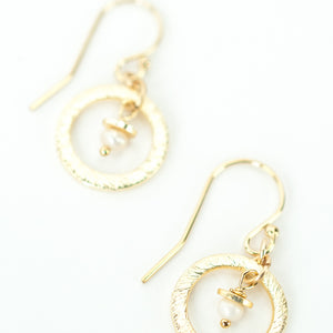 Wisdom Freshwater Pearl Inside Hoop Earrings