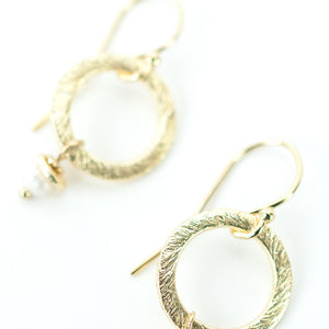 Wisdom Freshwater Pearl Outside Hoop Earrings