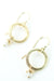 *Wisdom Freshwater Pearl Outside Hoop Earrings