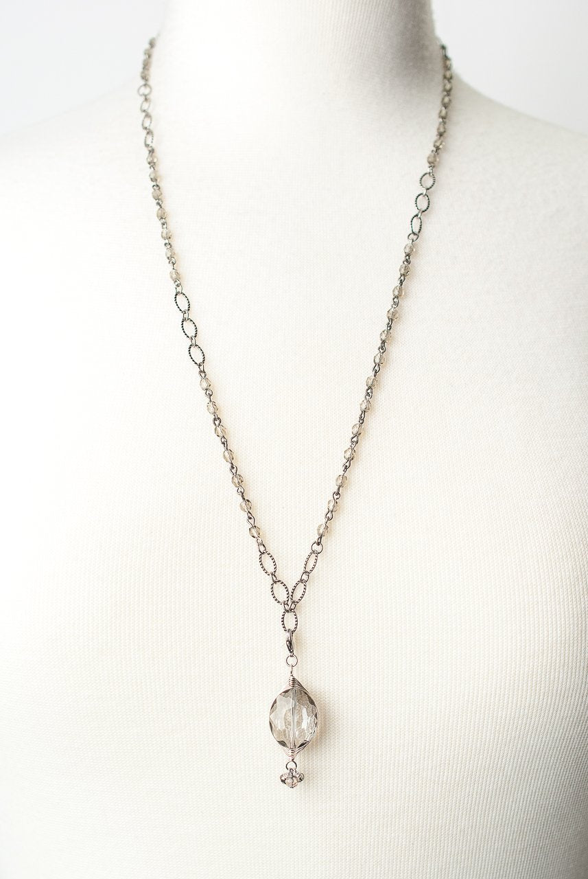 "*Windsor Castle 27.5-29.5"" Simple Removable Crystal Focal Necklace"