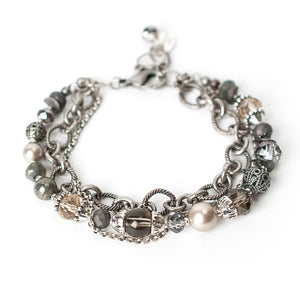 "Windsor Castle 7.5-9"" Collage Multistrand Bracelet"