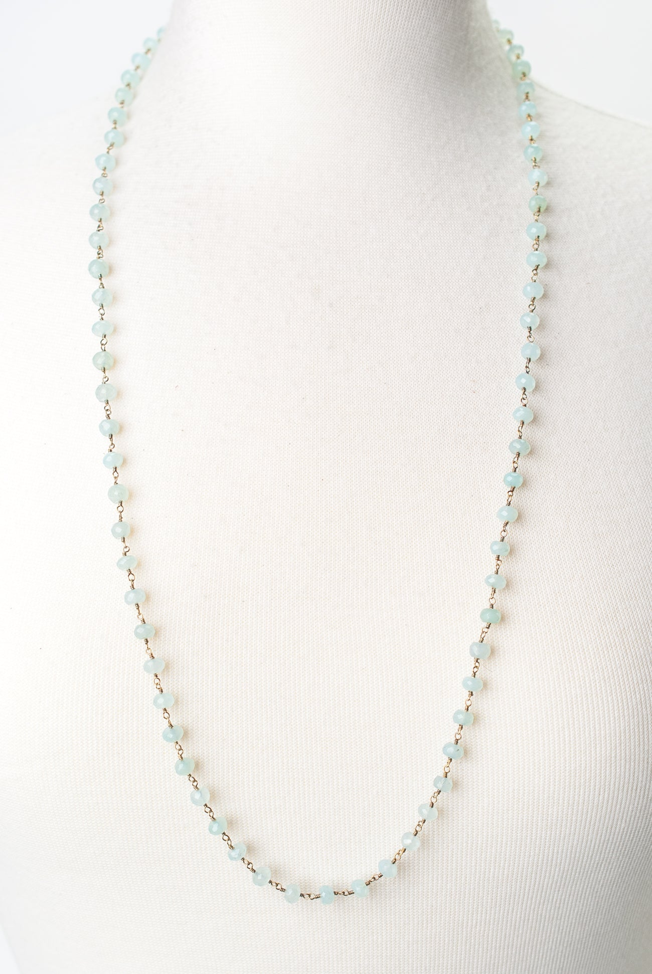 "Limited Edition 32-34"" Chalcedony Chain Necklace"