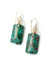 One of a Kind Jade Wirewrap Earrings