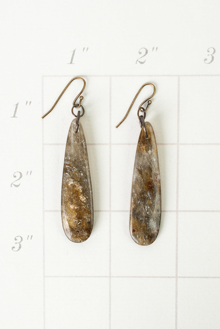 One of a Kind Teardrop Dangle Earrings