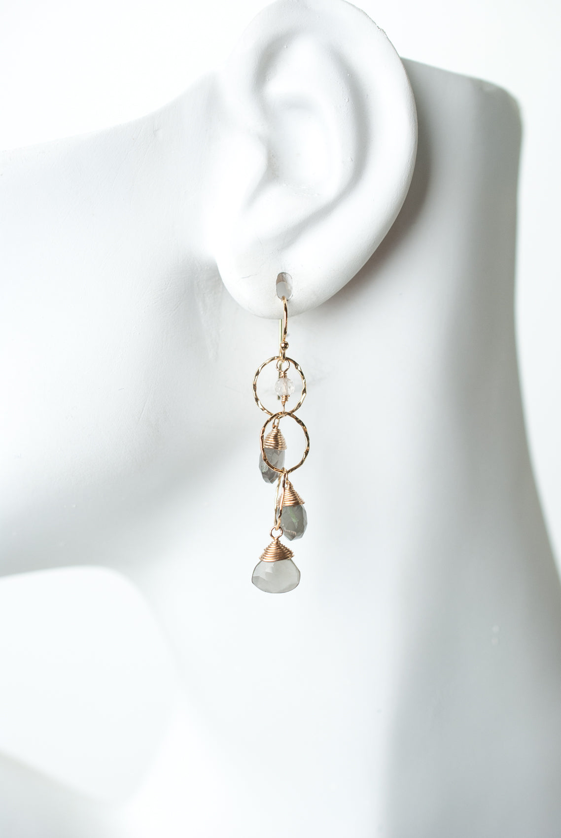 Sevenly Moonstone Dangle  Earrings