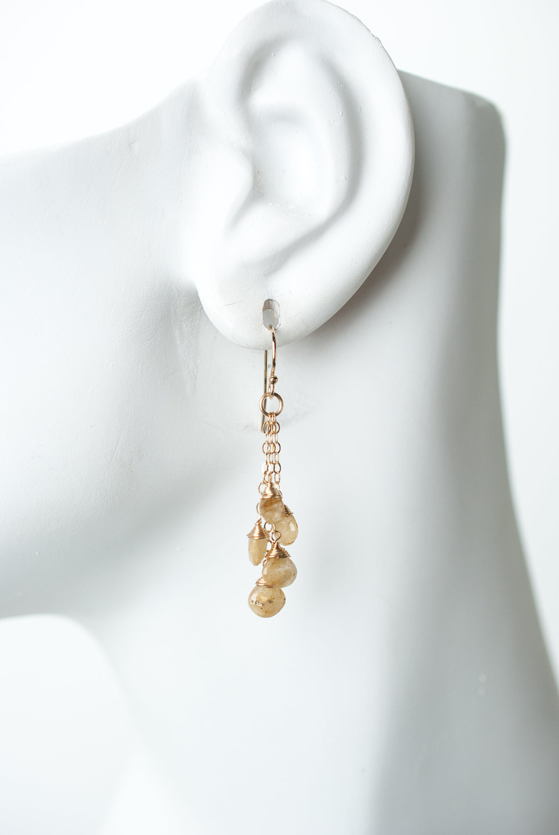 Sevenly Rutilated Quartz Tassel  Earrings