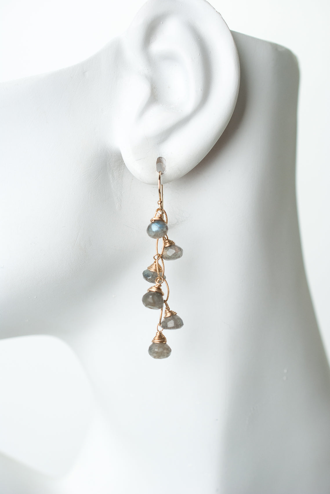 Sevenly Labradorite Dangle Cluster Earrings