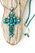 "One of a Kind 28-30"" Fine Silver, Natural Turquoise Focal Necklace"