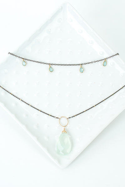 "Limited Edition 16.25-18.25"" Chalcedony Multistrand Necklace"