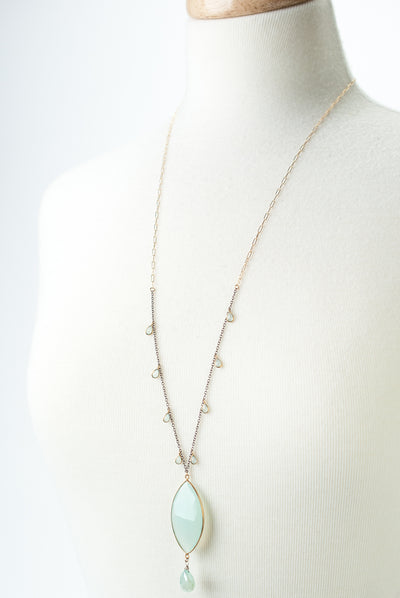 "One of a Kind 29.5-31.5"" Chalcedony Focal Necklace"
