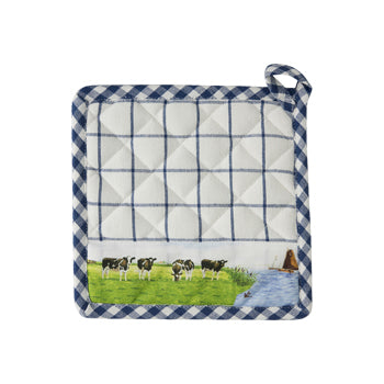 Wiebe Van der Zee - Pot Holder (Check Blue)