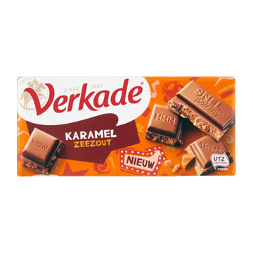 Verkade Caramel Sea Salt Chocolate Bar - 111gr.