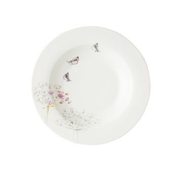 "Marjolein Bastin - Plate Deep Swan Flower (23cm) ""Sketch of Nature"""
