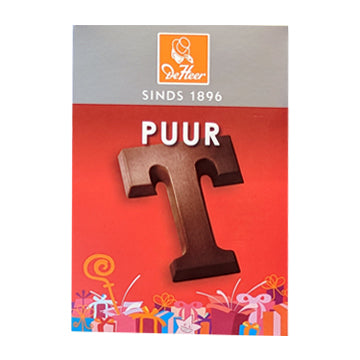 DeHeer Chocolate Letter 'T' Pure - 65gr.