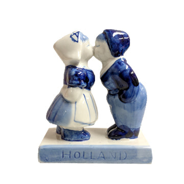Kissing Couple - Delft Blue - 9cm