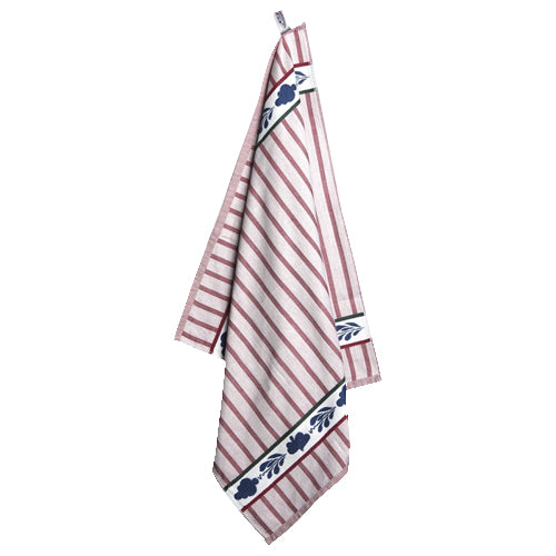 Boerenbont Tea Towel - Red Stripes (60x60cm)