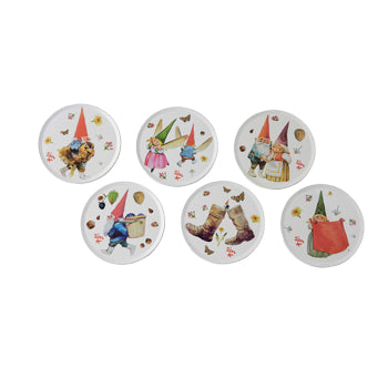"Rien Poortvliet - Coasters (Set of 6) ""Gnomes"""
