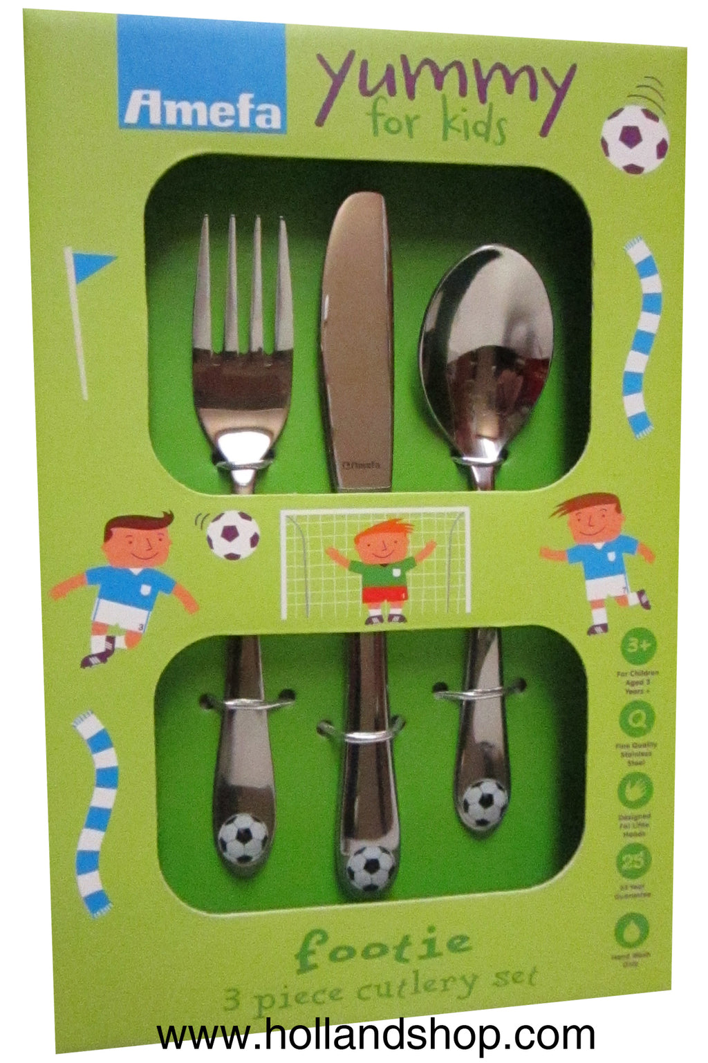 Child Cutlery Set - Amefa Soccer #8422 (Set of 3)