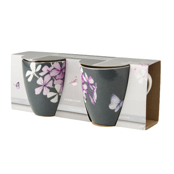 "Marjolein Bastin - Mini Mugs Flox (Grey) Set of 2 ""Sketch of Nature"" 210mL"