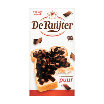 DeRuijter Pure Chocolate Flakes - 300gr.