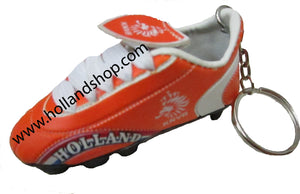 Keychain - Soccer Cleat Rubber Keychain(Blue/Orange)