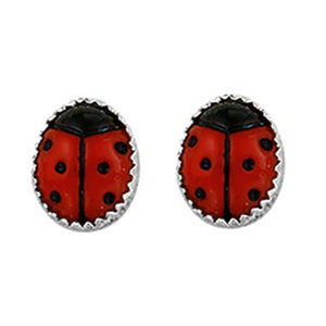 Ladybug Earrings - Stud (Large Bug)