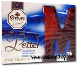 Droste Chocolate Letter 'M' Milk - 135gr.