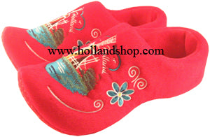 Slippers - Wooden Shoes - Windmill Red Size 45-47